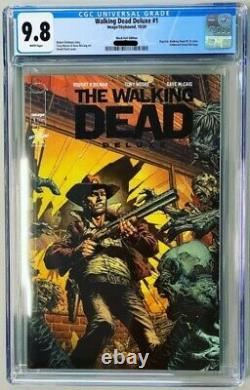 Walking Dead Deluxe Black Foil Cgc 9.8 Rare Comics Vault Exclusif Seulement 200