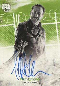 Walking Dead Hunters & Hunted Green 25 Autograph Card Jeffrey Morgan Comme Negan