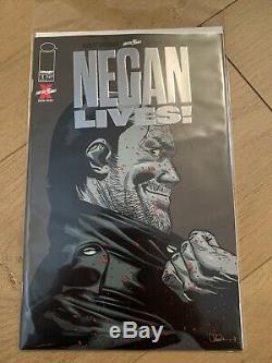 Walking Dead Negan Lives 1 Silver Edition Image Comics Nm Near Mint