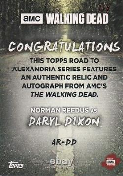 Walking Dead Road À Alexandrie, Norman Reedus Daryl Autograph Relic Card #2/5