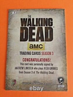 Walking Dead Saison 3 Autographe Trading Card A1 Rick Grimes Cryptozoïque