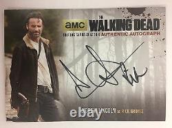 Walking Dead Saison 4 Partie 1 Andrew Lincoln Rick Grimes Autographique Black Al2