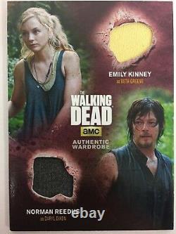 Walking Dead Saison 4 Partie 1 Norman Reedus & Emily Kinney Costume Dm1