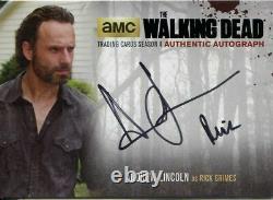 Walking Dead Saison 4 Partie 2 Carte Autographe Al4 Andrew Lincoln Comme Rick Grimes