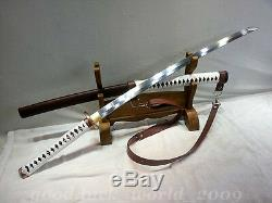 Walking Dead Samurai Sword Japon Katana Haut En Acier Au Carbone Lame Tranchante Forge Main