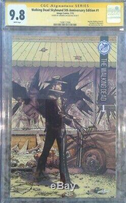 Walking Dead Skybound 5 Anniv # 1 Cgc 9.8 Ss Signé Andrew Lincoln Rick Rare