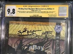 Walking Dead Skybound Edition 5ème Anniversaire # 1 9.8 Cgc Signé Par L'ensemble Du Casting