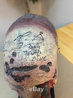 Walking Dead Zombie Head Autographe Jsa Psa Norman Reedus Scott Wilson