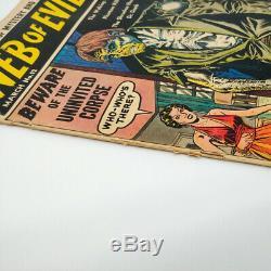 Web De Mauvais # 12 Morts-vivants Cover Golden Age Pre Code Zombie Horror