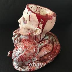 Zombie Cerveau Torso Candy Bowl Dish Centerpiece Walking Dead Horror Halloween Nouveau