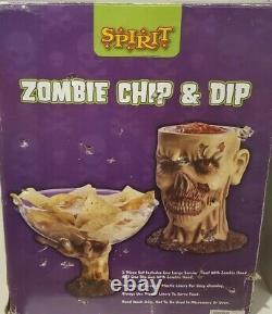 Zombie Chip Dip Bowl Halloween Party Prop Pour Servir La Nourriture Marcher Esprit Mort