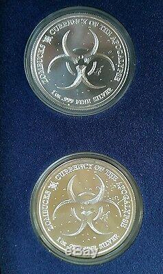 Zombucks Ensemble Complet 10-1 Oz 999 Silver Walker 2 Collection Saint Walking Dead